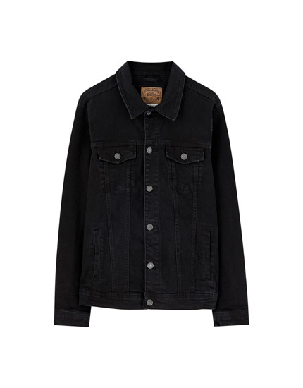 Black comfort denim jacket