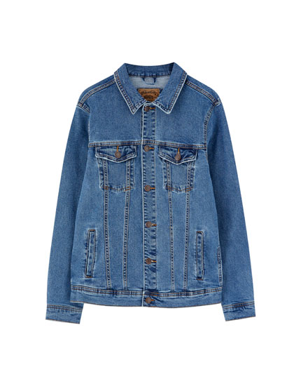 Medium blue comfort denim jacket