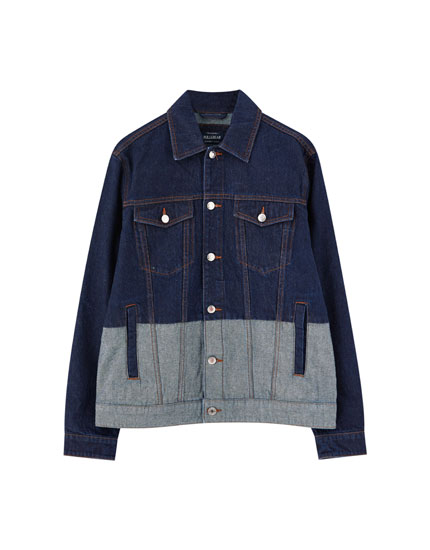 Denim colorblock jack