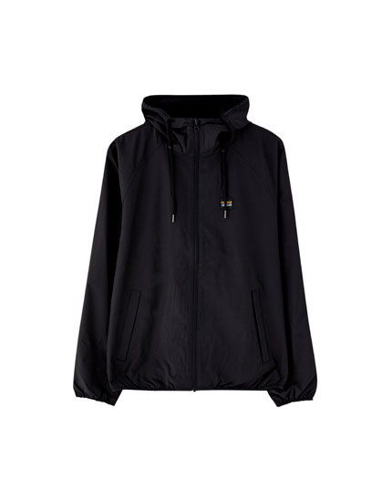 Hooded nautical jacket