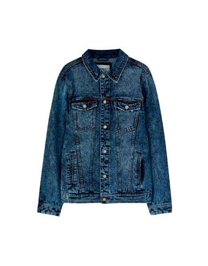 Medium blue denim trucker jacket