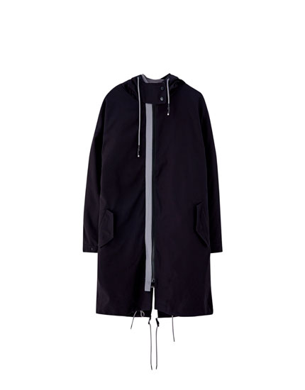 Parka with detachable quilted jacket