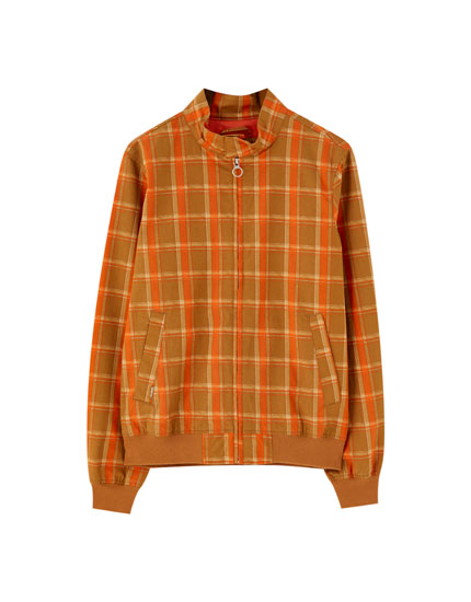 Retro check jacket