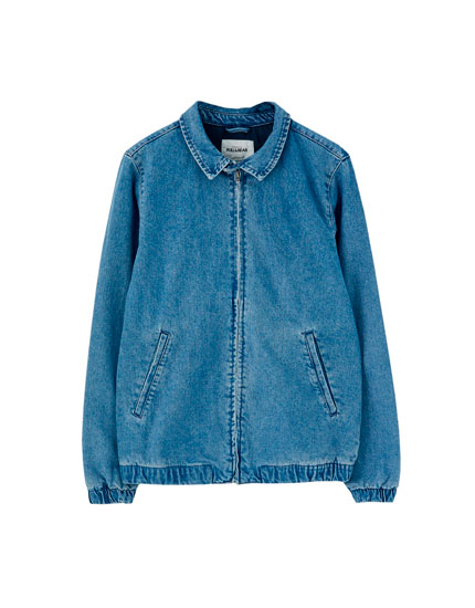 Denim jacket with zip