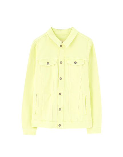 Neon yellow denim jacket