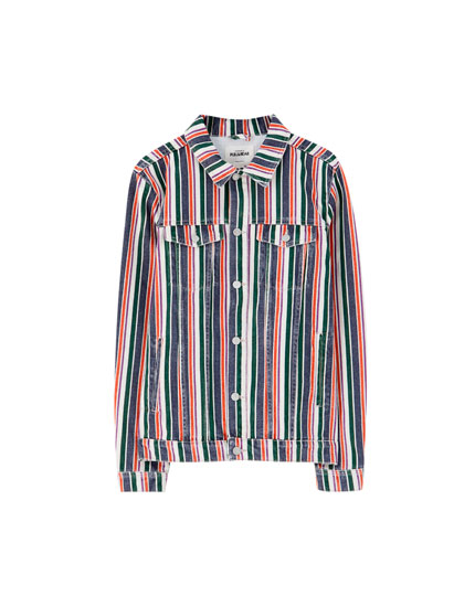 Vertical stripe jacket