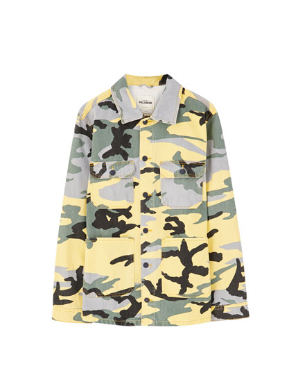 Yellow camouflage jacket