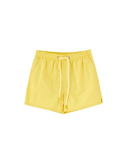 Basic plain swimming trunks
