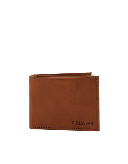 Brown wallet with contrast edging