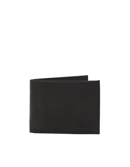 Black wallet with contrast edging