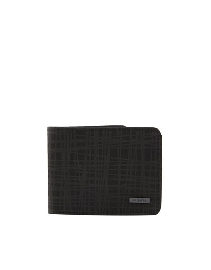 Wallet with textured stripes