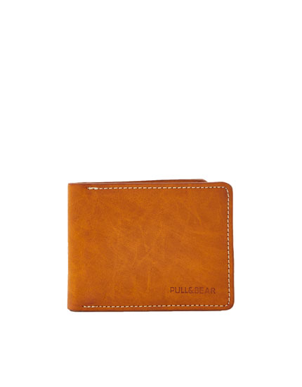 Topstitched cowboy-style wallet