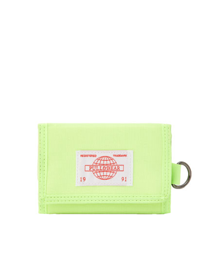 Neon lime wallet