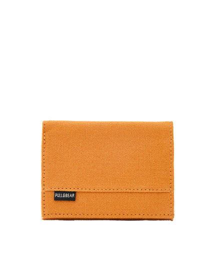 Cotton wallet with colour zip