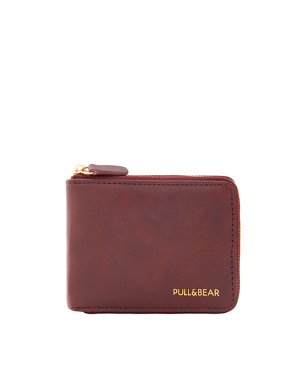Wallet with gold zip