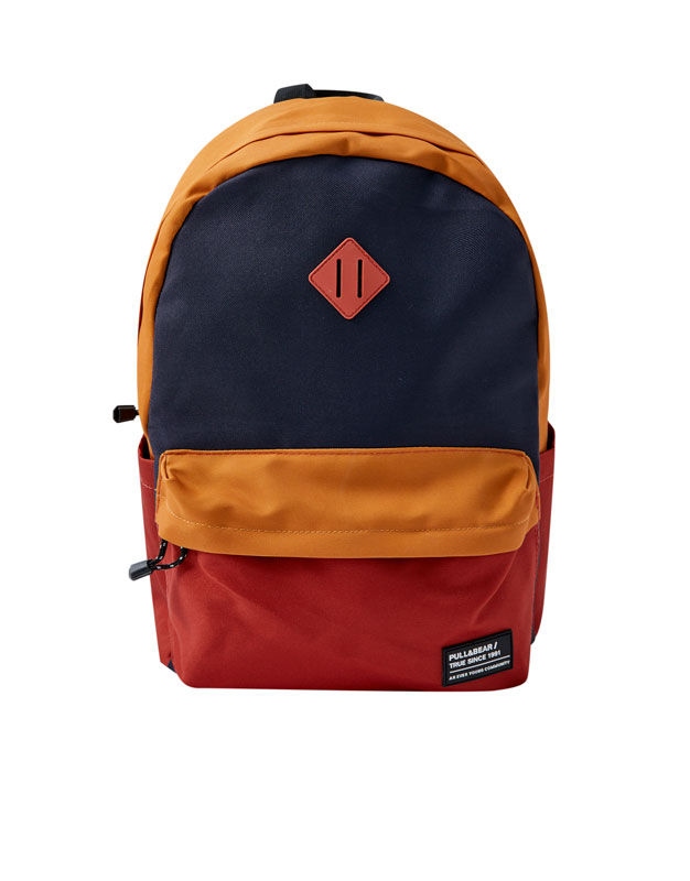 9ac2d573e335 OTHERS. Return. Colour block backpack
