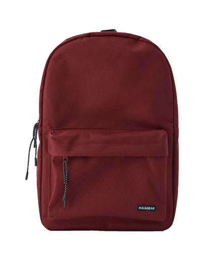 Basic plain backpack
