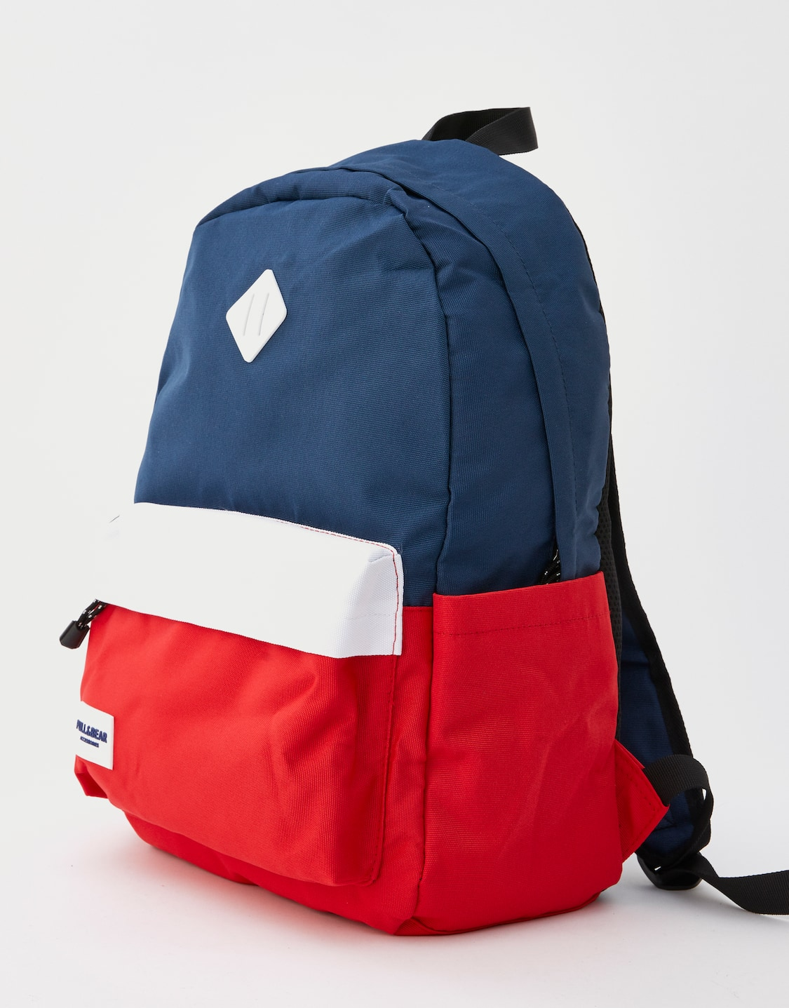 77c83d54648f Blue and red colour block backpack - pull bear