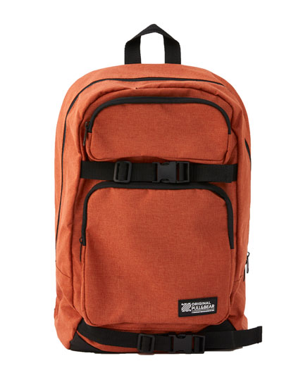 Orange skater backpack