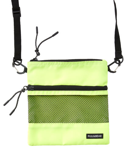 Zipped square-cut crossbody bag