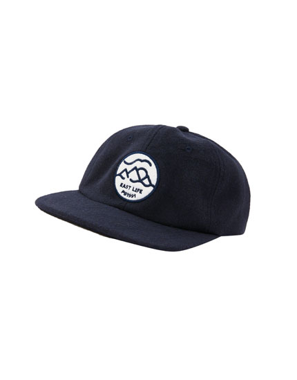 8a0d529917a Black cap with front embroidery. 15.99. Blue cap with logo