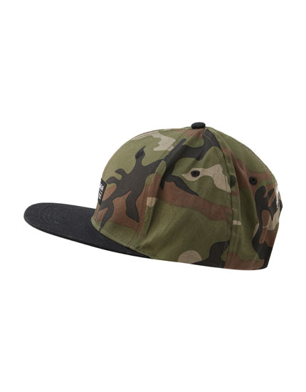 Camouflage cap with logo