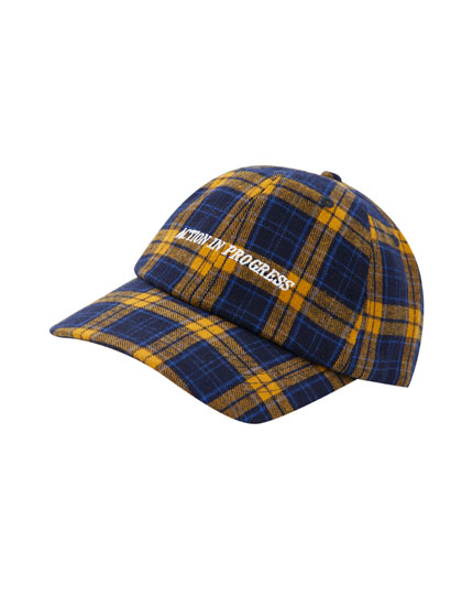 Yellow check cap