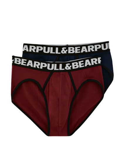 2-pack of logo briefs