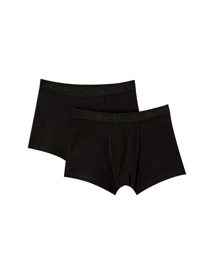 2-pack of black boxers