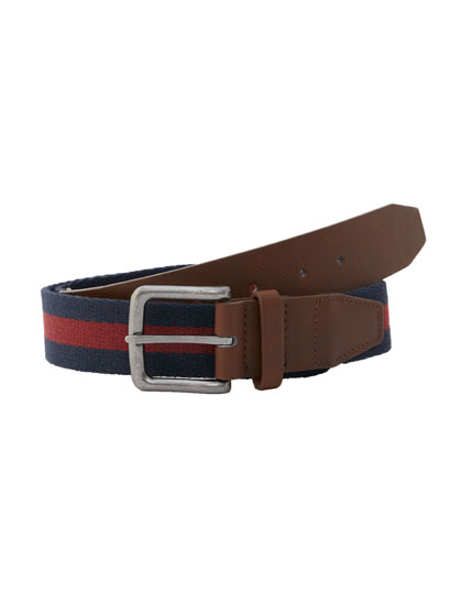 Two-tone canvas belt