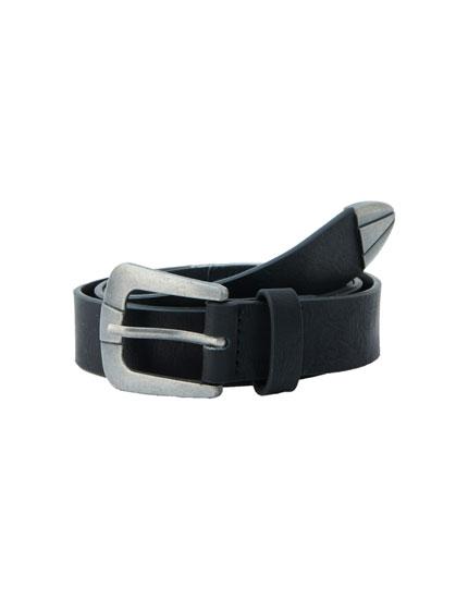 Black cowboy belt