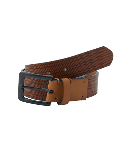 Brown raised-effect belt