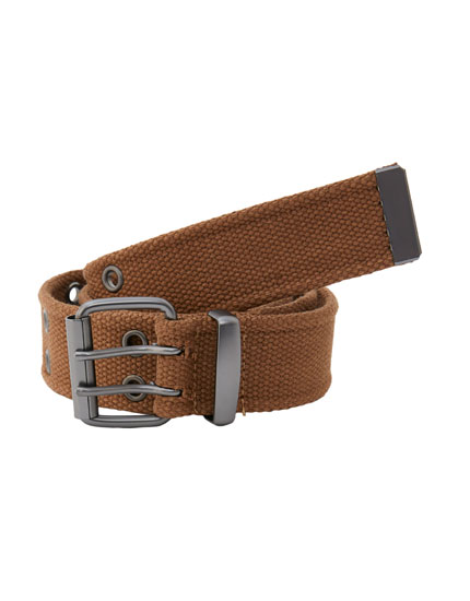 Brown canvas belt