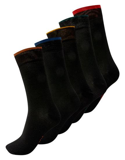 Pack 5 calcetines caño largo contraste