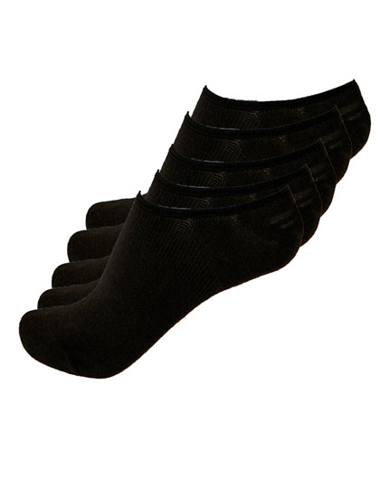 5er-Pack schwarze Footies