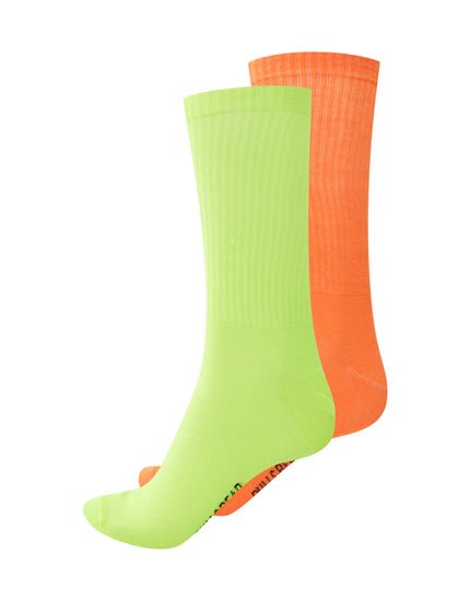 2-Pack of long neon socks