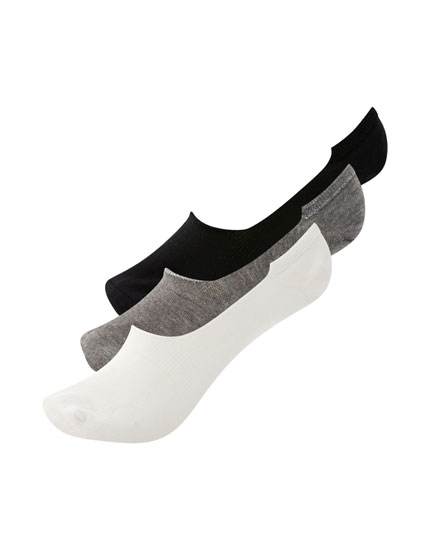 5-pack of plain no-show socks