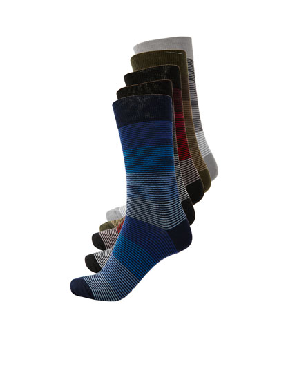 5-pack of long striped socks