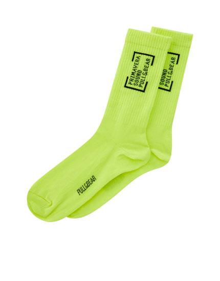 Primavera Sound neon socks