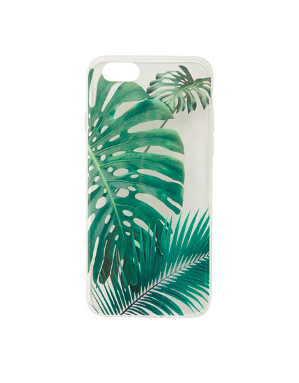 Tropical leaf phone case