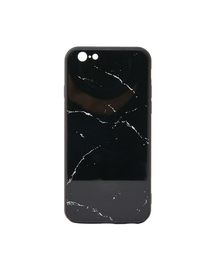 Glass marble-effect phone case