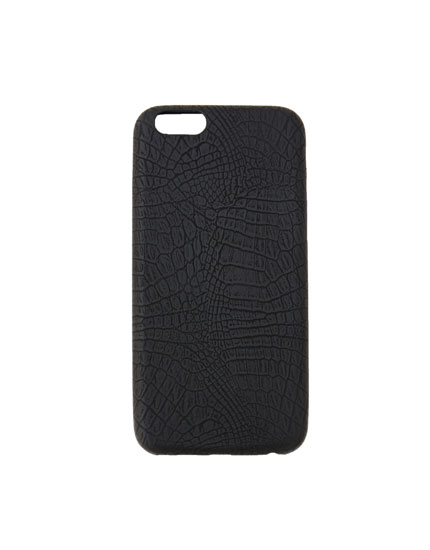 Black mock croc case