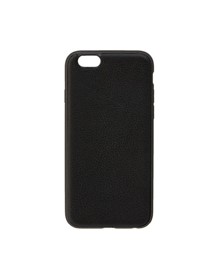 Faux leather phone case