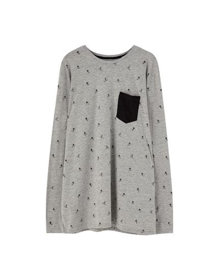 Pyjamas with contrast pocket