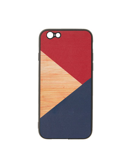 Wood panel phone case