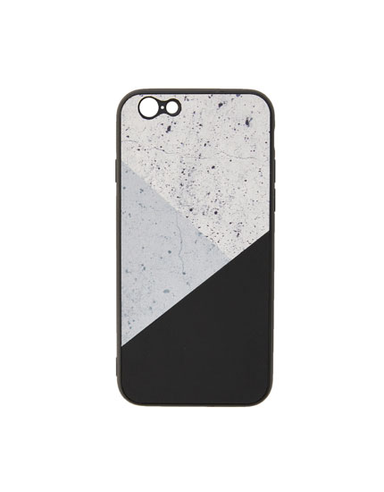 Marble-effect panel phone case