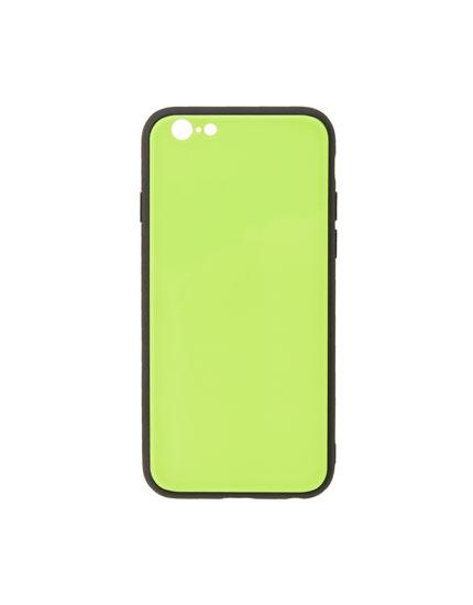 Carcasa smartphone verde flúor