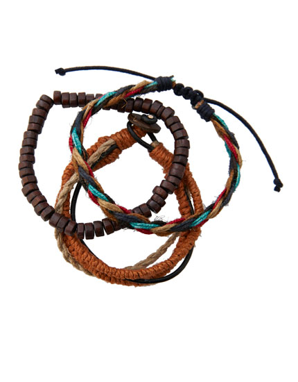 4-pack of braided bracelets