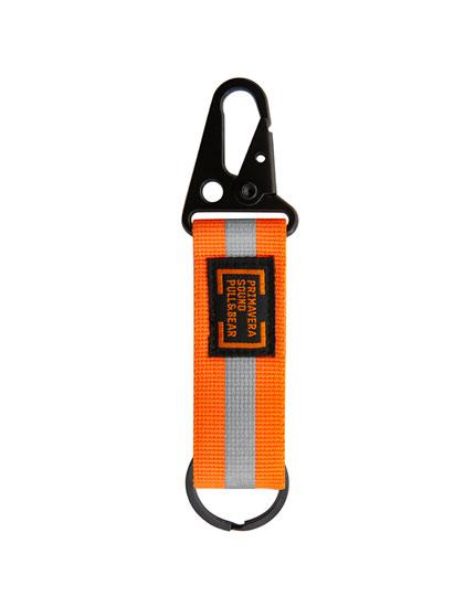 Primavera Sound orange key ring