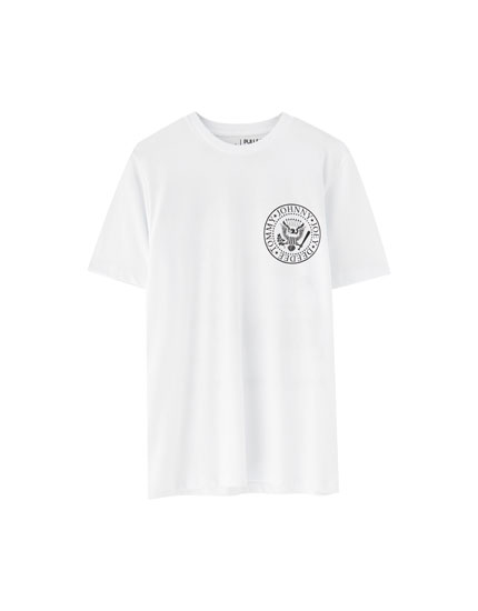 The Ramones logo and design T-shirt